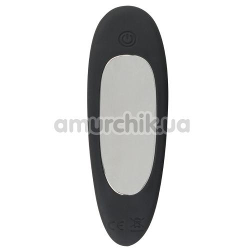 Анальная пробка с вибрацией и пульсацией XouXou Thrusting Vibrating Butt Plug, черная